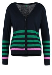 United Colors Of Benetton Cardigan Blue Navy Dark Blue