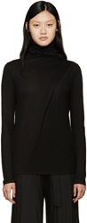 Ann Demeulemeester Black Draped Turtleneck