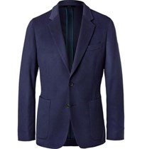 Paul Smith Navy Soho Slim Fit Unstructured Cashmere Blazer