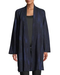Eileen Fisher Reflections Jacquard Jacket Plus Size Midnight