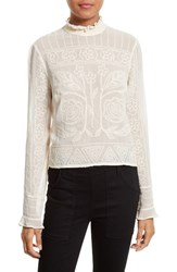 Tracy Reese Women's Embroidered Victorian Blouse