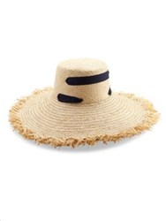 Lola Hats Alpargatas Raffia Sun Hat Natural Black
