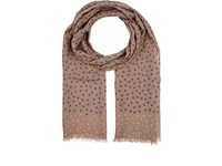 Isaia Men's Dotted Cashmere Wool Silk Scarf Tan