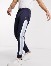 Lyle And Scott Archive Panel Joggers In Navy