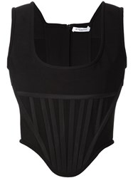 Givenchy Corset Style Tank Top Black