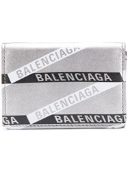 Balenciaga Everyday Mini Wallet Silver
