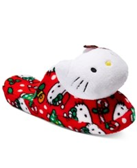 Hello Kitty Holiday Plush Head Slippers Red