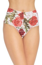 Hanky Panky Women's Rose High Waist Retro Thong