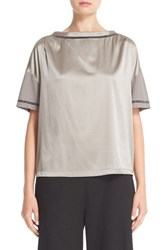 Fabiana Filippi Women's Beaded Satin Front Tee