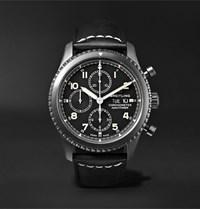 Breitling Navitimer 8 Chronograph 43Mm Black Steel And Leather Watch Ref. No. M13314101b1x1 Black