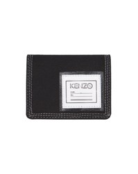 Kenzo Black Patch Canvas Wallet