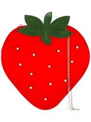 Charlotte Olympia Strawberry Clutch Red