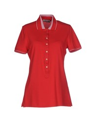 Brooksfield Topwear Polo Shirts Women Red