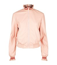 Pinko Ruffled Collar Bomber Jacket Female Pink