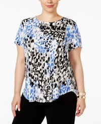 Alfani Plus Size Printed T Shirt Only At Macy's Etched Spots