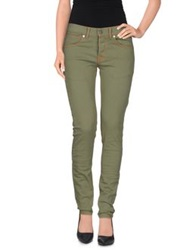 Maison Clochard Denim Pants Military Green