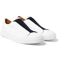 Marc Jacobs Leather Slip On Sneakers White
