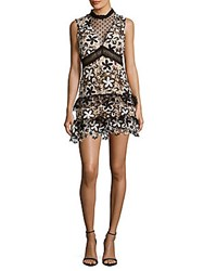 Romeo And Juliet Couture Illusion Lace Dress Black White