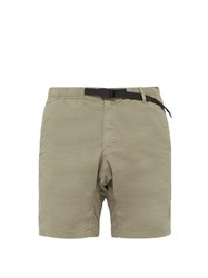 Gramicci Belted Cotton Blend Shorts Grey