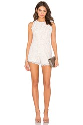 Endless Rose Woven Lace Romper White