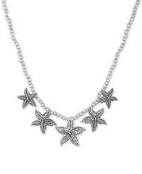 Lucky Brand Silver Tone Starfish Collar Necklace