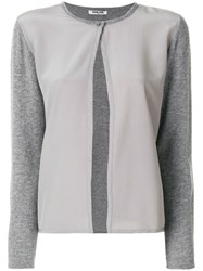 Max And Moi Soft Button Cardigan Cashmere Grey