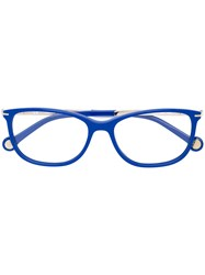 Carolina Herrera Rectangular Frame Glasses Blue