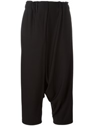 Issey Miyake Cropped Trousers Black