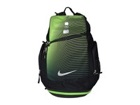 Nike Hoops Elite Max Air Backpack Gr Black Action Green Metallic Silver Backpack Bags