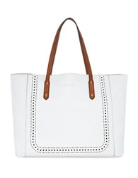 Splendid Key Largo Faux Leather Tote White