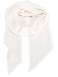 Moncler Classic Oversize Scarf White