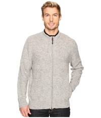 Pendleton Weekender Zip Front Cardigan Grey Heather Men's Sweater Gray