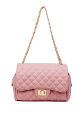 Marc B Knightsbridge Classic Quilted Crossbody Bag By Pink