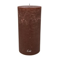 Amara Rustic Pillar Candle Chestnut Brown