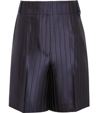 Reiss Lilea Short Striped Tailored Shorts In Navy