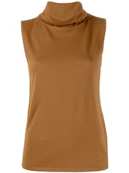 Ralph Lauren Collection Knitted Vest Top Brown