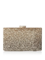 Issa Thea Gradient Box Clutch Bag Gold