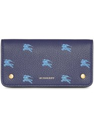 Burberry Equestrian Knight Phone Wallet Blue