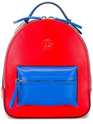 Versace Mini Medusa Palazzo Backpack Red