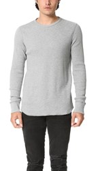 Rag And Bone Standard Issue Waffle Crew Pullover Pale Grey