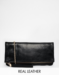 Oasis Leather Foldover Clutch Bk1black1