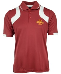 Antigua Men's Iowa State Cyclones Fusion Polo Cardinal Red White