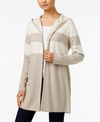 Styleandco. Style Co. Striped Hooded Cardigan Only At Macy's Warm Ivory