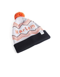 Tuck Shop Co. Harlem Striped Pompom Beanie White