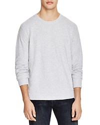 Bloomingdale's The Men's Store At Bloomingdales Jacquard Crewneck Sweatshirt Light Heather Grey Bros B06b