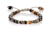 M Cohen M. Men's Beaded Cord Bracelet Brown