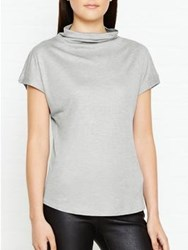 Jigsaw Turtleneck Cap Sleeve Top Silver Grey