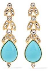 Ben Amun Gold Plated Crystal And Stone Earrings One Size