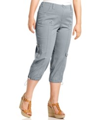 Styleandco. Style And Co. Plus Size Cargo Capri Pants New City Silver