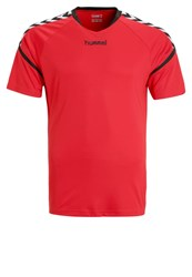 Hummel Authentic Charge Sports Shirt Rouge Noir Red